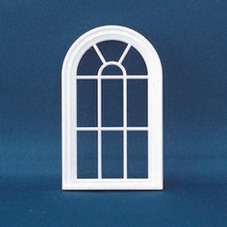 Diy459 victorian 10 pane arched top window plastic 1 for Round top windows