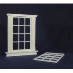 Georgian 12 Pane Window Frame (Plastic) 1:24 scale