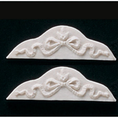 Ribbon Scroll Wall Panel Moulding - Pack of 2