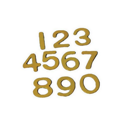 Brass Door Numbers for 1:12 Scale Dolls House