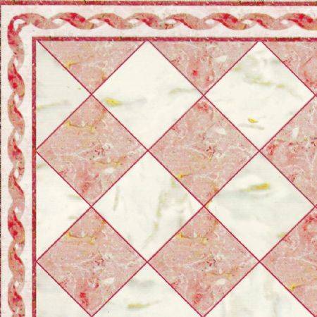 Red & White Marble Effect Tile Sheet - Gloss Card
