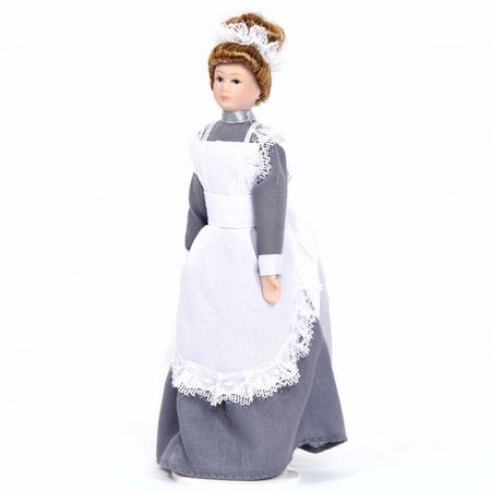 Dolls House Porcelain Maid Figure