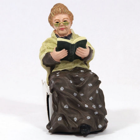 Dolls House Resin Grandmother Figure
