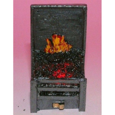 Dolls House Slim Fire Grate with Glowing Coals