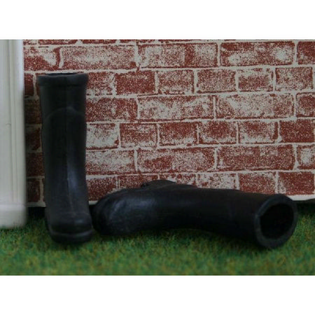 Pair of Black Wellies 12th Scale
