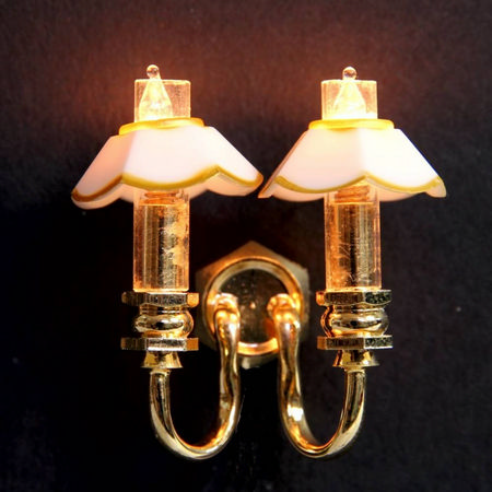 Double Candle Wall Lamp - 1:24 scale