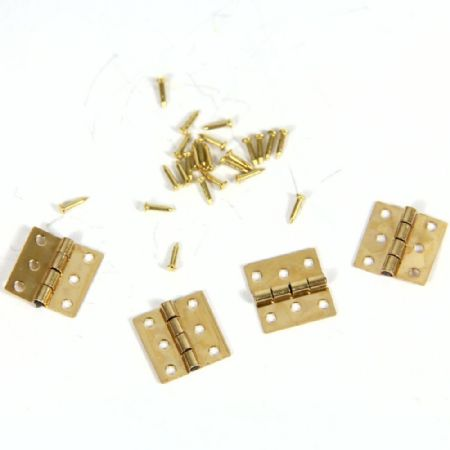 Small Brass Hinges with Pins x 4pcs