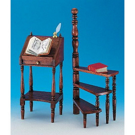 12th Scale High Writing Desk & Step Ladder Furniture Kit