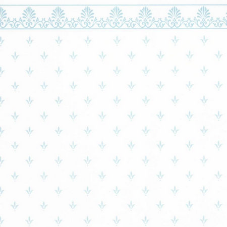 Regal Silver on White Dolls House Wallpaper