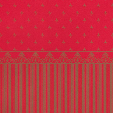 Grosvenor Red/Gold Dolls House Wallpaper