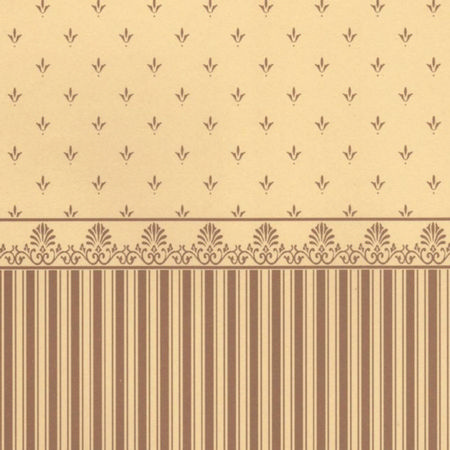 Grosvenor Gold/Beige Dolls House Wallpaper