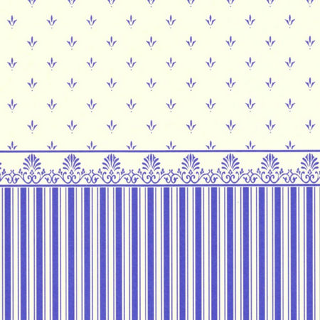 Grosvenor Blue/Cream Dolls House Wallpaper