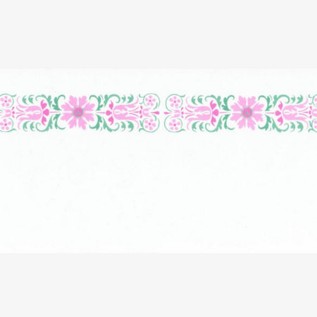 Glasgow Pink Dolls House Wallpaper Border