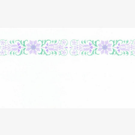 Glasgow Lilac Dolls House Wallpaper Border