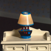 Blue Nursery Lamp