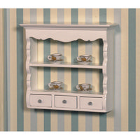 White Wall Shelf Unit