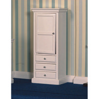 White Cupboard & Drawer Unit