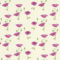 Pink Poppy Dolls House Wallpaper