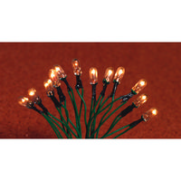 String of 12 White Dolls House Christmas Lights
