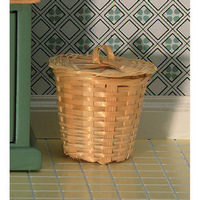 Wicker Laundry Basket with Lid