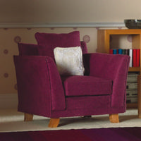 Soft Plum Armchair for Dolls House