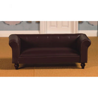 Classic Leather Sofa for Dolls House