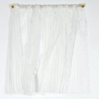 White Lace Curtains for 1:12 Scale Dolls House