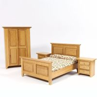 Country Dolls House Bedroom Furniture Set