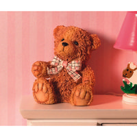 Miniature Brown Resin 'Billy' Teddy Bear