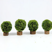 Round Box Bushes x4 pcs