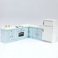 Fitted Kitchen Set - Blue Painted
