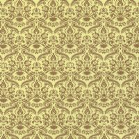 Gold Damask Dolls House Wallpaper