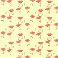 Red Poppy Dolls House Wallpaper