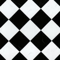 Black & White Marble Floor Tile Paper.