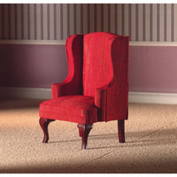 Red High-Back Armchair for Dolls House