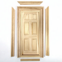 Wooden Door with Two Frames