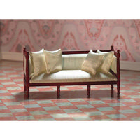 Cream Silk Louis XVI Sofa
