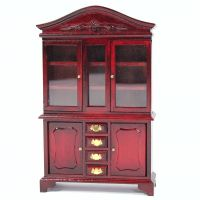 Mahogany Display Cabinet - 1:12 scale