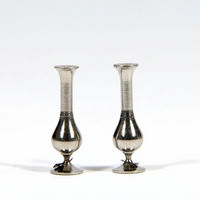 Pair of Metal Vases