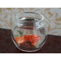 12th Scale Hand Made Goldfish Bowl with Orange Fish
