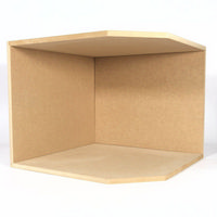 Large Corner Room Box Kit - 1:12 Scale