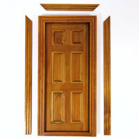 Interior Dolls House Door (Walnut Finish)