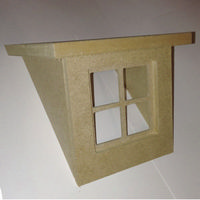 Flat Roof Dormer Kit for 1:12 Scale Dolls House