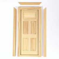 Wooden Dolls House Door (5 Panel)