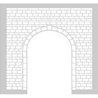 Custom Stencil for Model Railway Tunnel