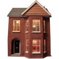 Decorated Bay View Dolls House (1:12 scale)