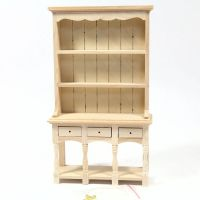 Three Drawer Dresser - 1:12 Scale - Plain Wood