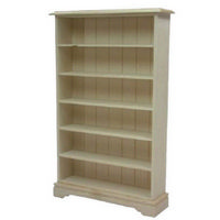 6 Shelf Bookcase - 1:12 Scale - Plain Wood
