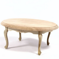 Oval Dining Table - Plain Wood