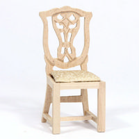 Dolls House Dining Chair - Plain Wood